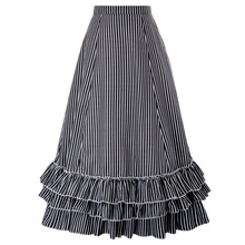 ebfb16853 BP Vintage Lady Victorian Ruffle Bustle Skirt Steampunk Retro Gothic Dress  S-3XL(Hong