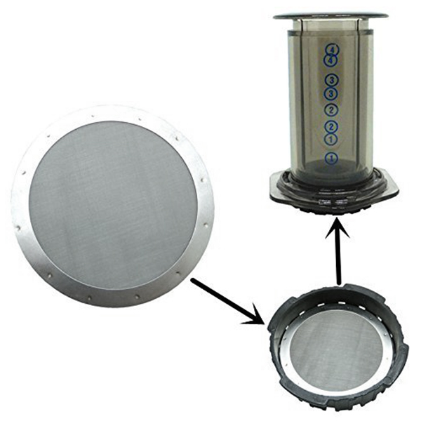 2 Coffee Metal Filter - Reusable Stainless Steel Filter For Aeropress Coffee Maker