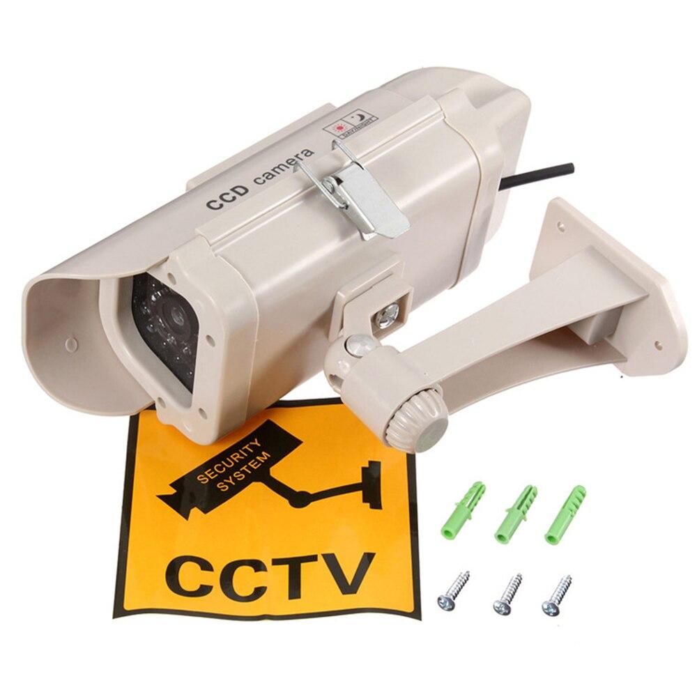 New Simulation Fake Camera Solar Power Dummy Camera Outdoor Security CCTV Surveillance Dummy Camera Bullet