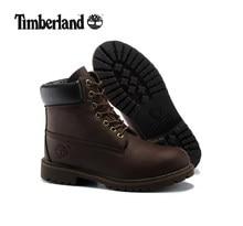 TIMBERLAND для мужчин Классические 10061 темно коричневый осенние ботильоны  martin, мужские кожаные Уличная Повседневная обувь O.. 58690604a60