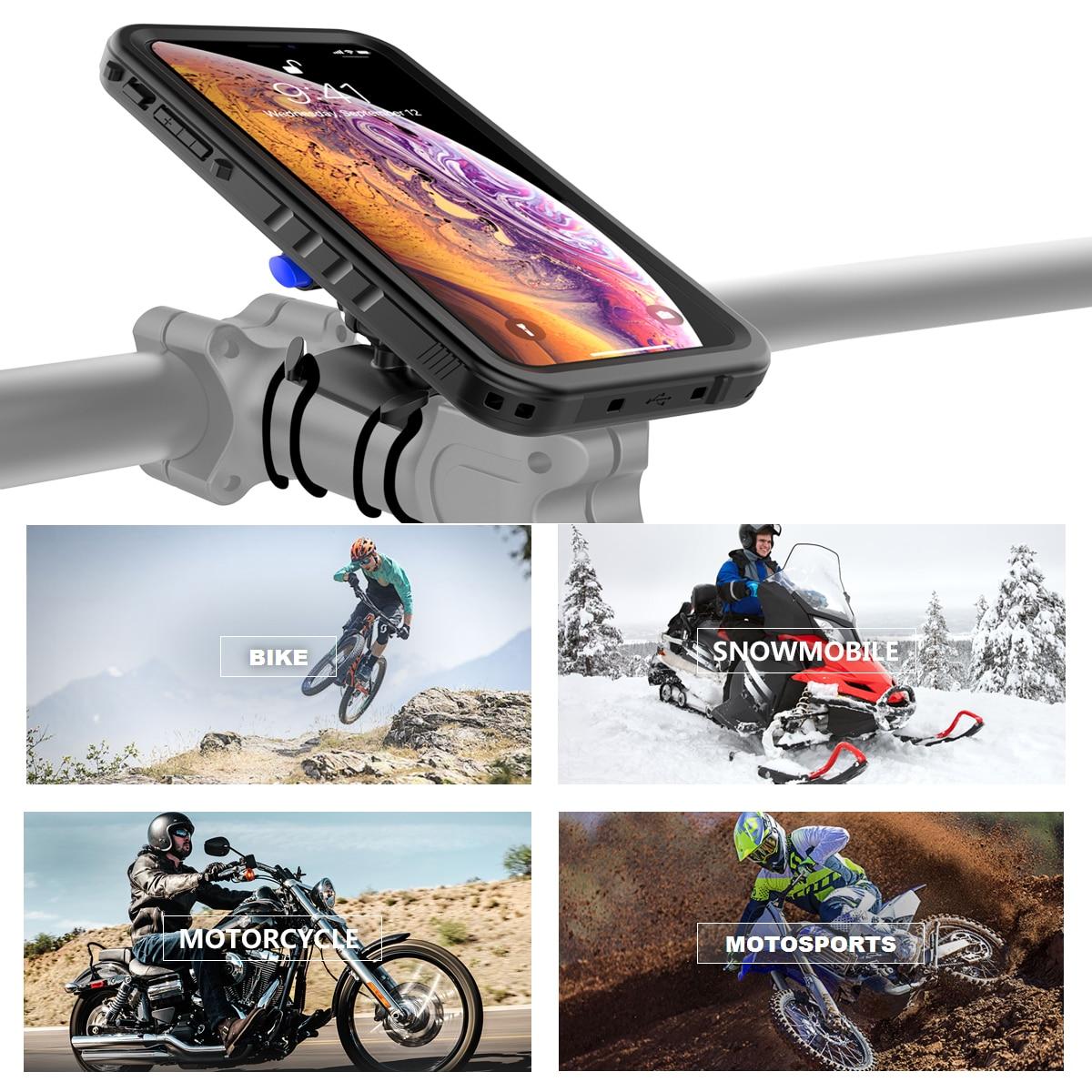Image 5 - Bike Mount Phone Case For iPhone Xs Max Case Rotating Bicycle Handlebar Mount Holder phone cover For iPhone XS Max ShockproofFitted Cases   -