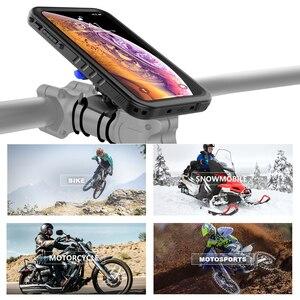 Image 5 - Support de vélo étui de téléphone pour iPhone Xs Max étui rotatif vélo guidon support de montage couverture de téléphone pour iPhone XS Max antichoc