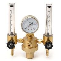HLZS Argon CO2 Gauge Pressure Regulator Mig Tig Flow Meter Control Valve Welding Gas Double Tube Bubble Counter Aquarium Flowm