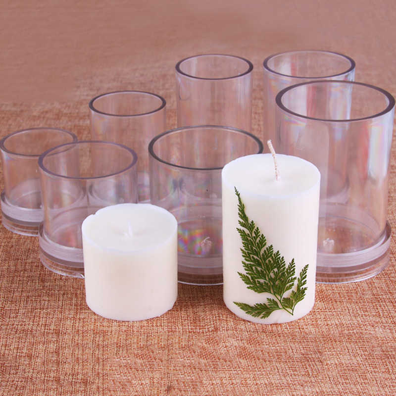 Clear Candle Mold Transparent Candle Making Mould Decoration Tools Plastic Mould DIY Candle Craft Tools Handmade Craft Kit