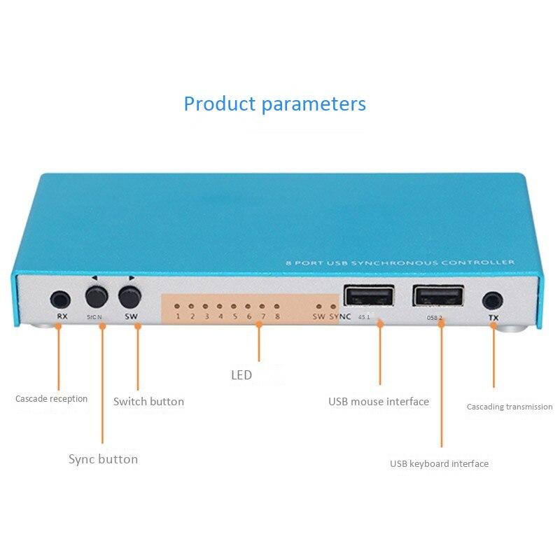 Contrôleur synchrone de souris de clavier d'usb de synchroniseur de 8 ports pour le contrôle Multiple de jeu de Pc - 6