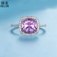 Серебро 925 сертифицирован безупречная огранка 3.08ct розовый топаз обручальное свадебное кольцо Для женщин Романтичный подарок изящных ювели