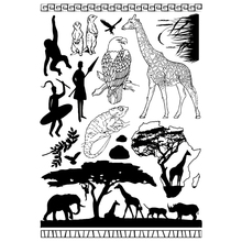 African animals Transparent Clear Silicone Stamp/Seal for DIY scrapbooking/photo album Decorative clear stamp