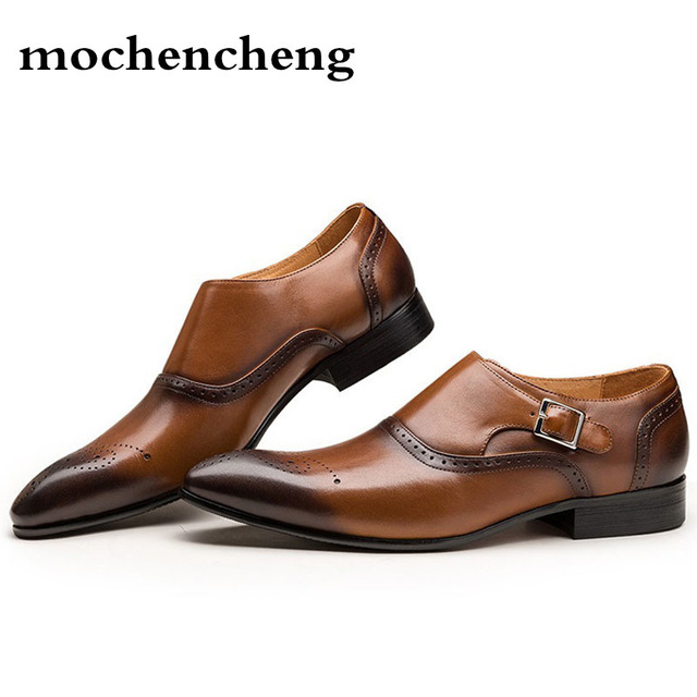 Big Size 38-48 Italian Brand Design Handmade Leather Men Brown Formal Shoes Office Business Wedding Dress Loafers Male autumn