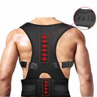 Spine Posture Corrector Magnet Protection Back Shoulder Belt for Relief Therapy Humpback Vertebral Skew Back Support Brace