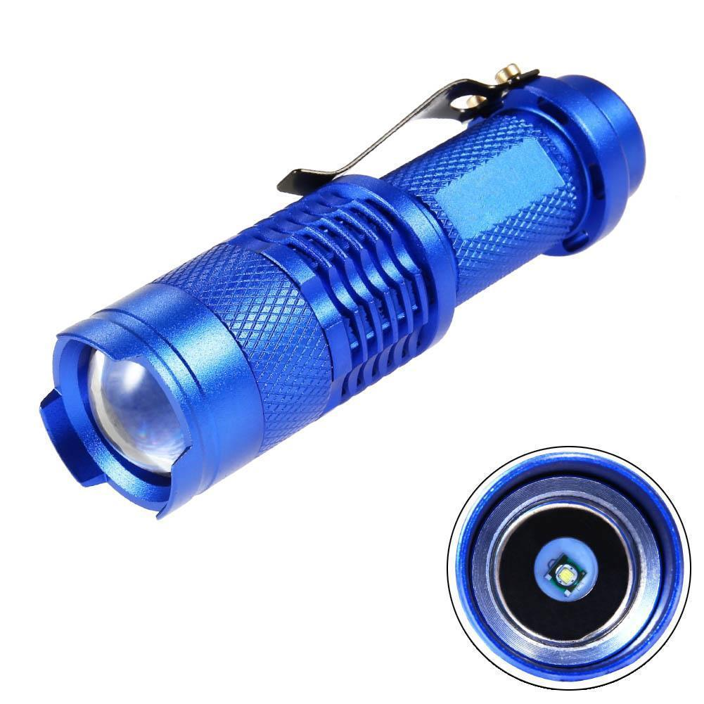 2000 LM  Q5 14500 AA 3 Modes ZOOM LED Flashlight Mini Q5 Zoomable Torch Tactical Flashlights Bicycle Flash Lamp Waterproof
