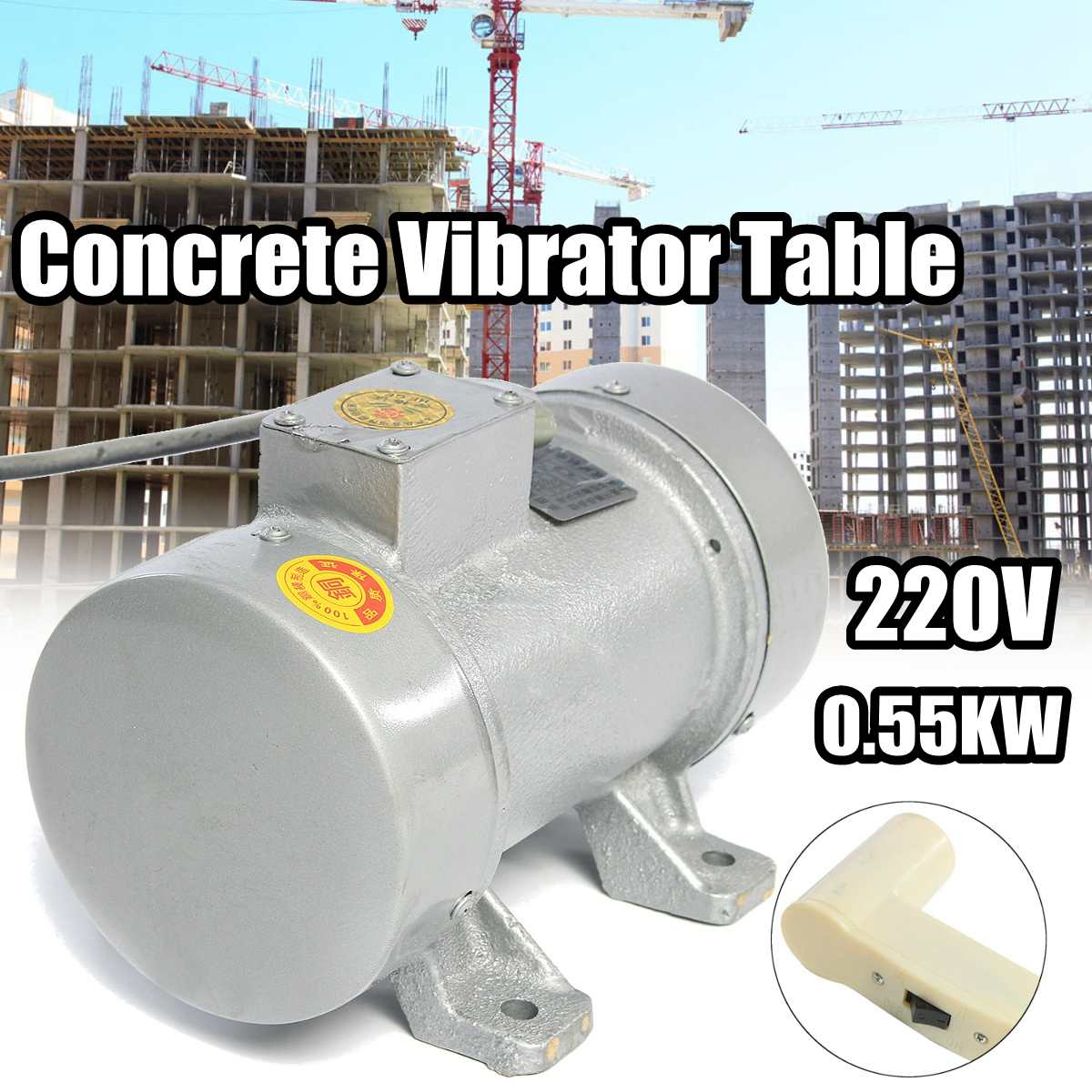 Drillpro 220V 550W Concrete Vibrator Motor Single phase copper core For Concrete Vibrator Table ToolsDrillpro 220V 550W Concrete Vibrator Motor Single phase copper core For Concrete Vibrator Table Tools