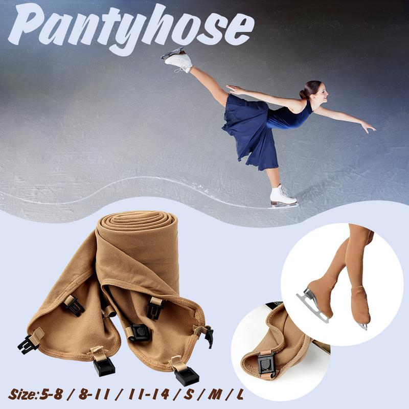 1 Pair Of Children Women Ice Skating Trousers Figure Skating Pants Thermal Long Pantyhose Ice Skate With Shoes Cover