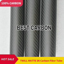 Free shiping OD4mm,5mm,6mm,7mm,8mm ,10mm, 12mm with 500mm length High Quality Twill Matte 3K Carbon Fiber Fabric Wound Tube