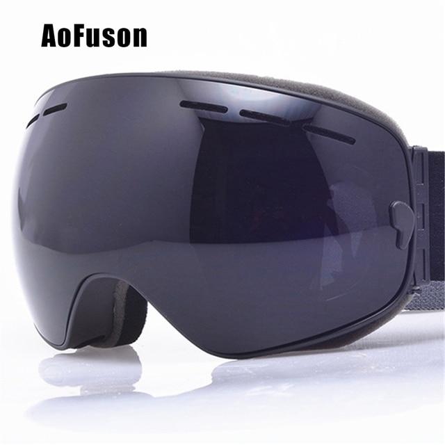 dc7716d1258a Ski snowboard goggles uv big spherical mask glasses skiing men women big  vision profession snow ski