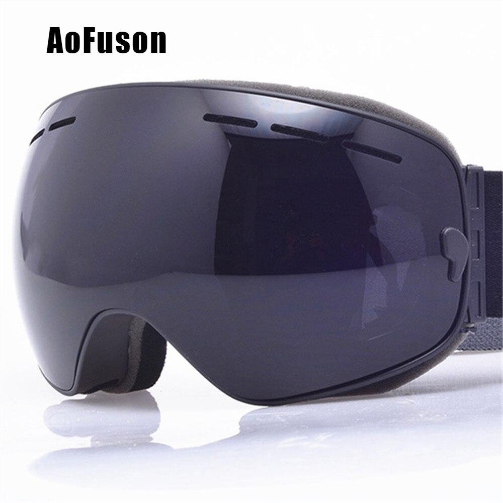 2019 Ski Snowboard Brille. UV400 Big Sphärische Maske Brille Skifahren Männer Frauen Große Vision Beruf Schnee Ski Brillen Sci