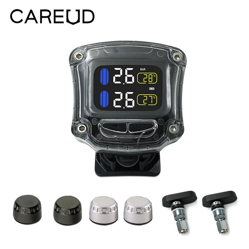 CAREUD M3-B Wireless Motorcycle TPMS Tire Pressure Monitoring System TPMS Motorcycle Universal 2 External Internal Sensors 11.11