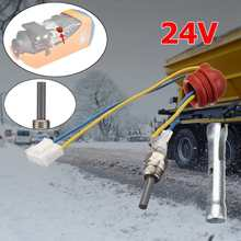24V D iesel Car Air Heater Glowpin Glow Pin Car Spark Plugs Ignition Wire Cable For VVKB Quality Pin+wrench