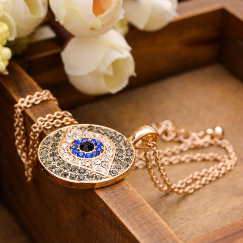 2018 jingyang Woman Chain jewelry pendant turkish eye soy greek Eyes Necklace For Woman Zinc Alloy olho gregoevil eye amulet