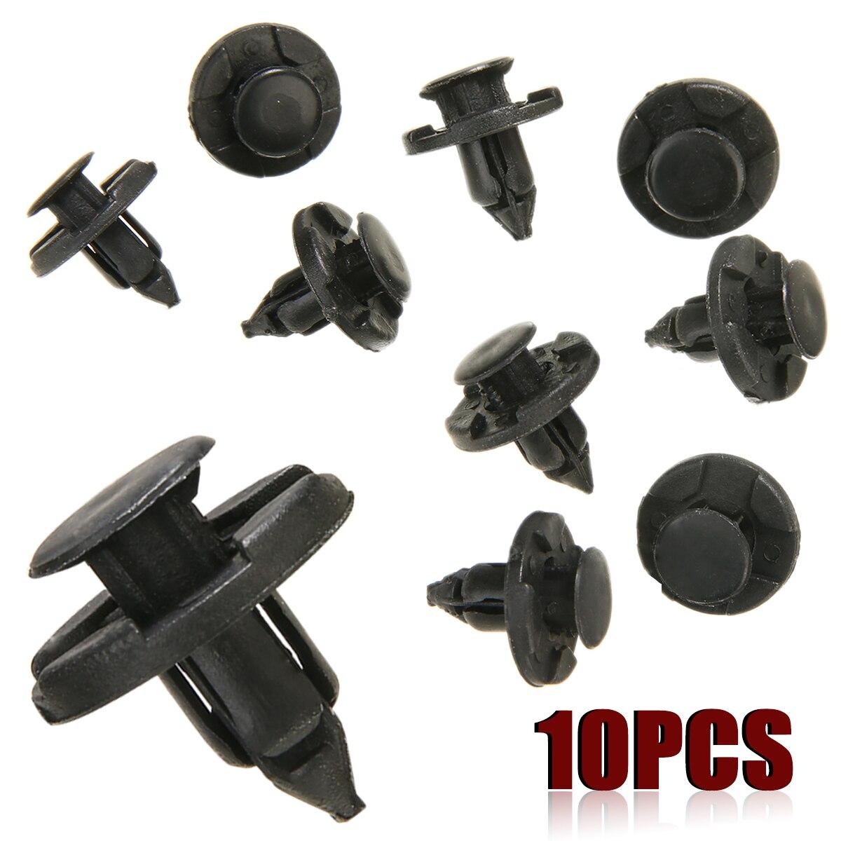 Black KIMISS Car Retainer Clips,100Pcs Plastic Door Trim Clip//Car Bumper Fender Rivets Push Clips Fasteners