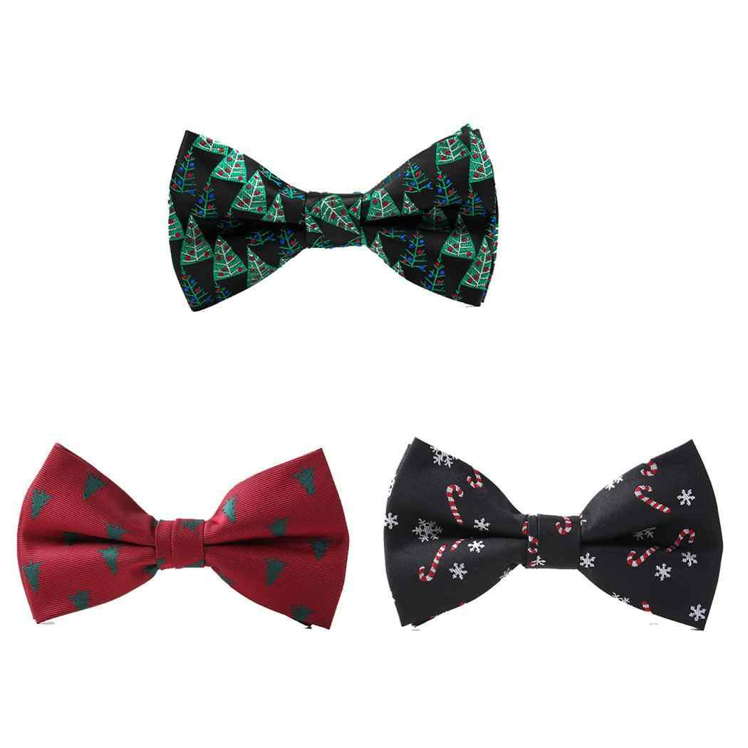 f4155bba14b4 Necktie Festival Black Gift Red Novelty Bowtie Casual Adjustable Style  Lovely Unisex Green Kids Christmas Print
