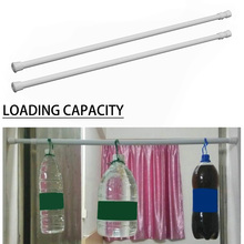 1pc Cabinet Closet Curtain Rail Pole Telescopic Shower Tension Rod Adjustable Window Extendable