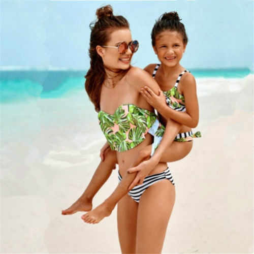 896d5947ed Detail Feedback Questions about Family Matching Swimwear Mother ...