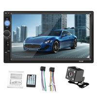 7 HD Multimedia Player 2DIN Touch Screen Auto Audio Car Stereo MP5 Bluetooth USB TF FM Camera Supporting IOS Android System
