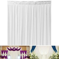 3MX3M White Cloth Wedding Backdrop Curtain Event Party Decor Customized Birthday Wedding Stage Background Silk Drape Decoration