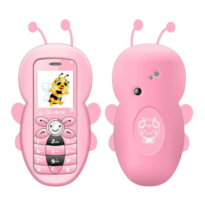 Mafam barra adorável dos desenhos animados bolso do telefone móvel slot para cartão de memória câmera bluetooth mini bonito celular estudante criança p027
