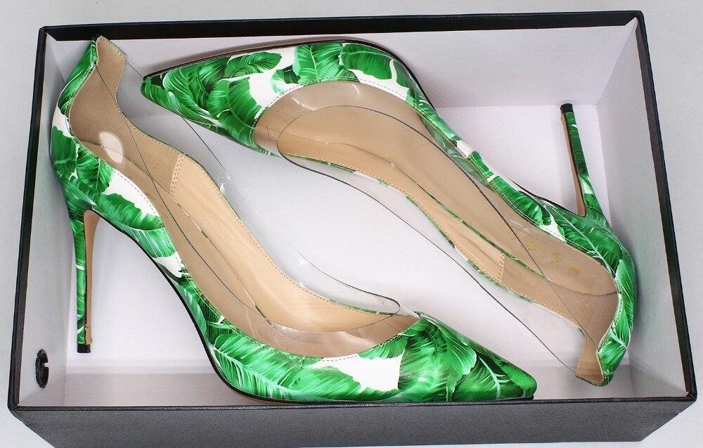 Imprimé D'été Shown Bout Dames Shown Pour À Pointu Femme Chaussures Pvc Spartiates Souliers Vert Talons Sandales As Transparent as Hauts Femmes qRxX6ZPf