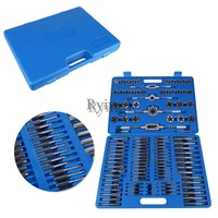 G1 110PCS/Lot M2 M18 Screw Nut Thread Tap & Die Tool Set with Wrench Handle Heavy Duty Hand Tool Kit Accessory