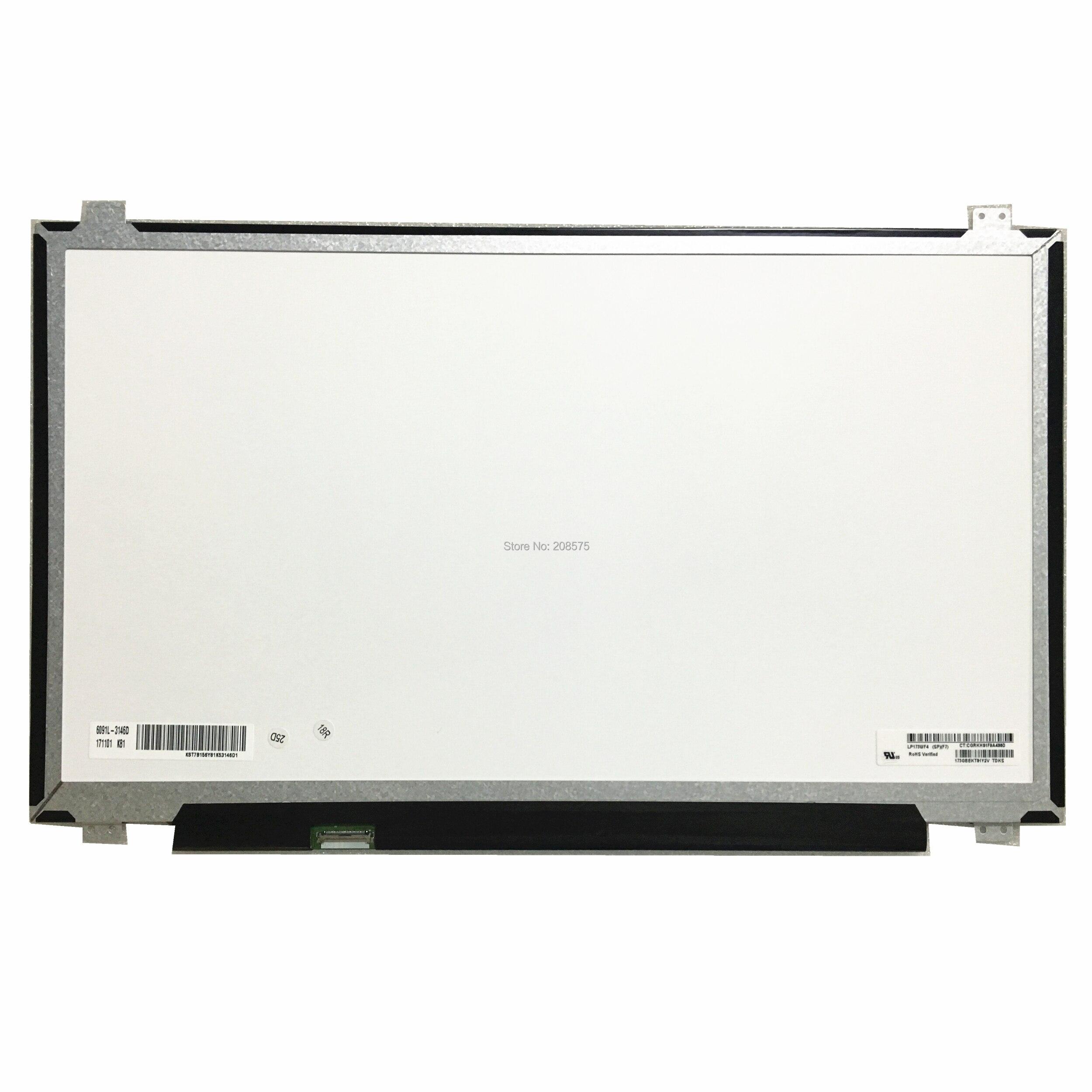 Free shipping LP173WF4-SPF7 LP173WF4 SPF7 SPF5 SPF4 SPF2 SPF1 B173HAN01.0 N173HCE-E31 Laptop lcd screen 1920*1080 edp 30pins IPS