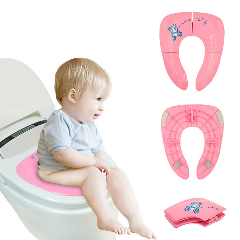 Baby Travel Folding Potty Toilet Child Foldable Toilet Seat Child Auxiliary Toilet Portable Baby Toilet Male And Female Baby T(China)