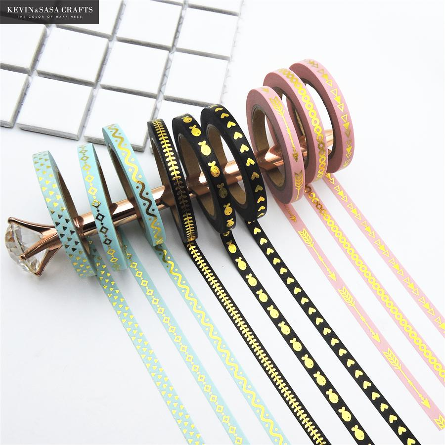 3Pcs/Set Foil Washi Tape Quality Stationery Diy Scrapbooking Photo Album School Tools Kawaii Scrapbook Paper Stickers Gift