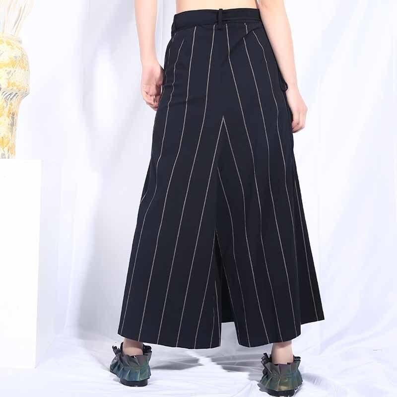 Pierna Moda Verano Pantalones Cintura Nuevo Rayas Mujeres De Black Primavera Amplia 2019 Jo580 A Impresión Alta Lanmrem Venda Mujer qP6Fa
