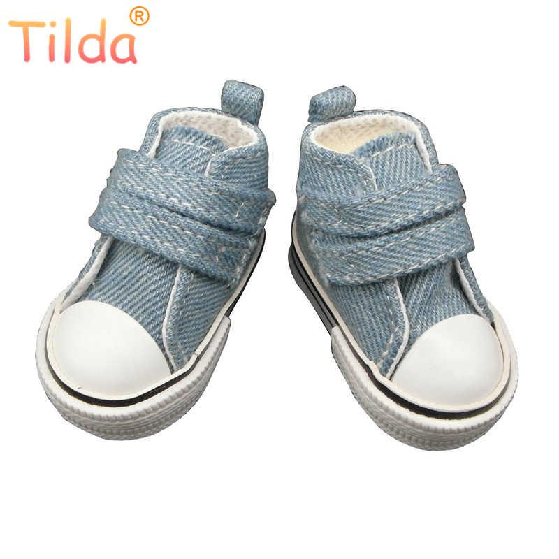 Тильда 6 пар 6 см парусиновые кроссовки для куклы Paola Reina, модная обувь для куклы Corolle, 1/4 Bjd обувь спортивная обувь для тканевых кукол