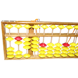 Image 3 - Chinese Abacus 13 Column Wood Hanger Big Size Non Slip Abacus Chinese Soroban Tool In Mathematics Kids Math Education Toy 58Cm