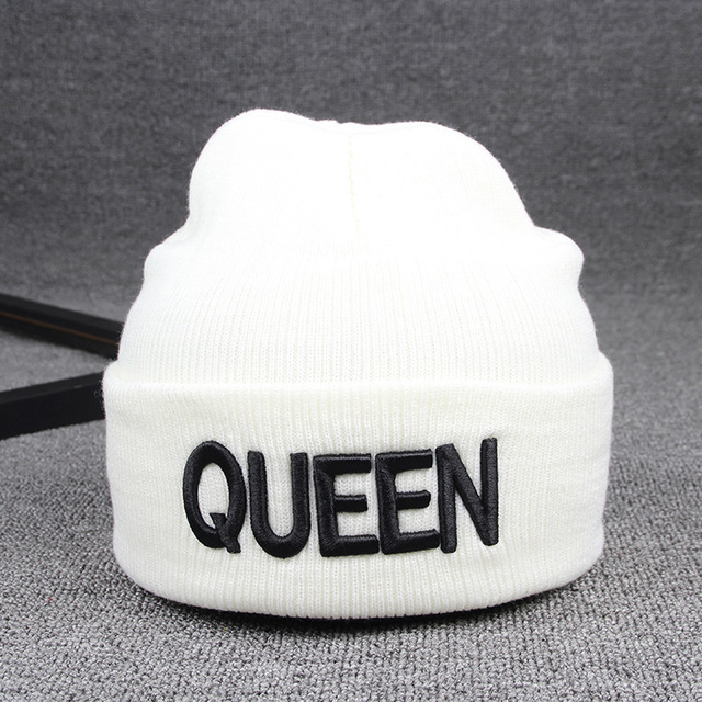 Embroidery KING QUEEN Skullies 8
