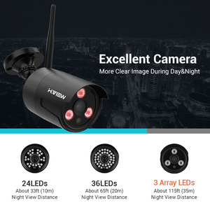 Image 3 - H.VIEW 1080P Wifi CCTV Camera Security System Kit Wireless Video Surveillance with Recording Wireless CCTV System 1080P 2MP Kit