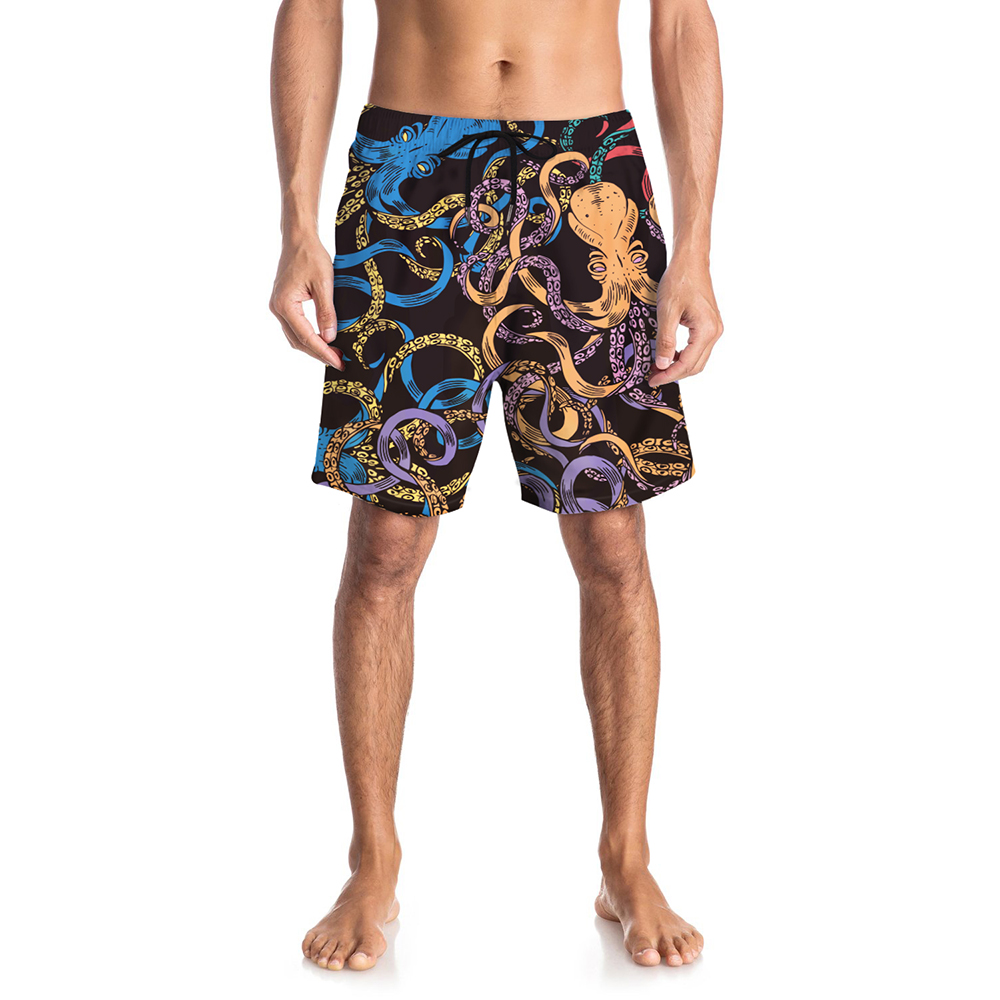 Men Beach   Shorts   Catton Pattern Swimwear Men Swim   Shorts   Surf Wear   Board     Shorts   Summer Swimsuit Bermuda Beachwear Trunks   Short