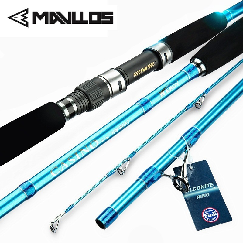 Mavllos Strong Saltwater Fishing Boat Rod 2.1M Lure Weight80-300g FUJI Guide Ring Reel Seat Superhard Slow Jigging Rod