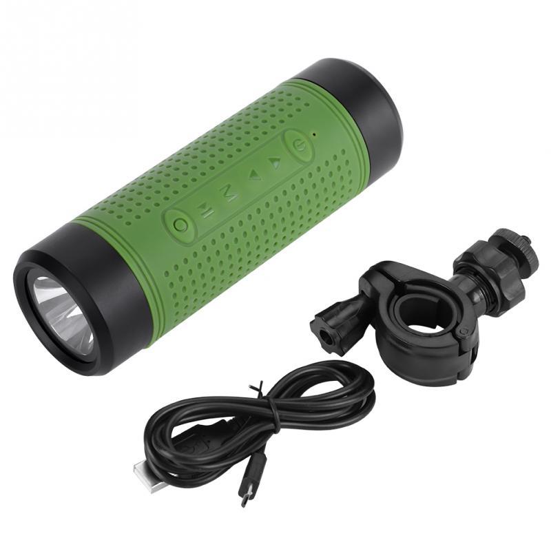 3w Led Flashlight Hiking Camping Stereo Bluetooth Music Speaker Flashlight Bike Lamp Bicycle Torch Flashlight With Tf Card Led Flashlights Lights & Lighting