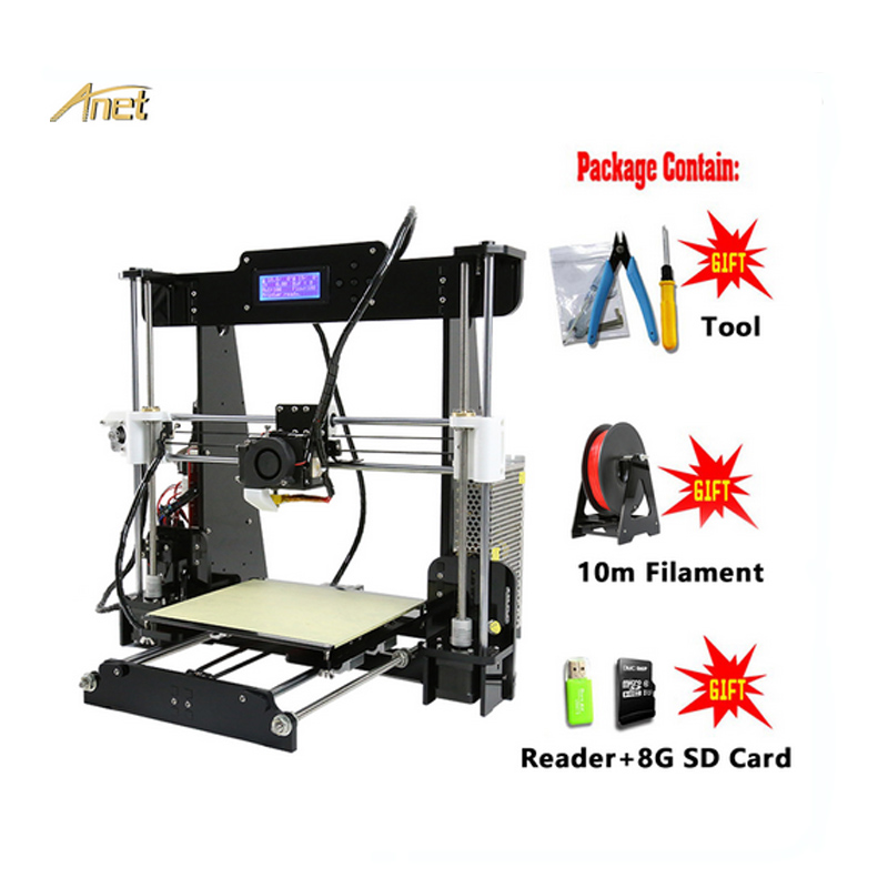 Chinese Manufacturer Anet 3d Printer Large Printing Size Metal Frame 3D Printer DIY Kit 1.75mm Filament High Precision and Speed