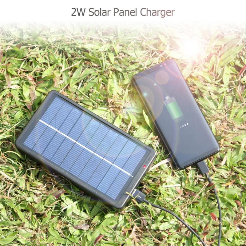ALLOYSEED 2W Solar Panel Charger With Base For 1 2 Section 18650 Battery Rechargeable Charging Mobile Phone USB Lights Charger