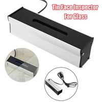 4w luzes indicadoras escudo de alumínio lâmpada uv estanho lado detector indicador de cara lata para dizer vidro estanho inspetor lateral para vidro novo