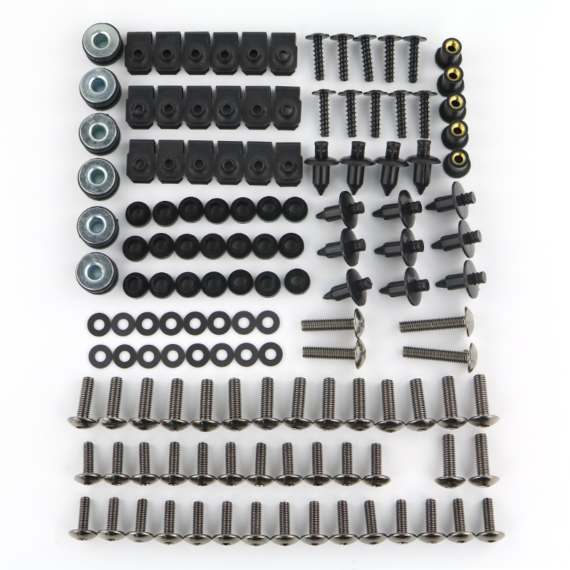 Motorcycle Complete Full Fairing Bolts Kit Screw Bodywork Washer Nuts Steel For Yamaha YZF-R6 YZF R6S YZF600R YZF750R YZF1000RMotorcycle Complete Full Fairing Bolts Kit Screw Bodywork Washer Nuts Steel For Yamaha YZF-R6 YZF R6S YZF600R YZF750R YZF1000R