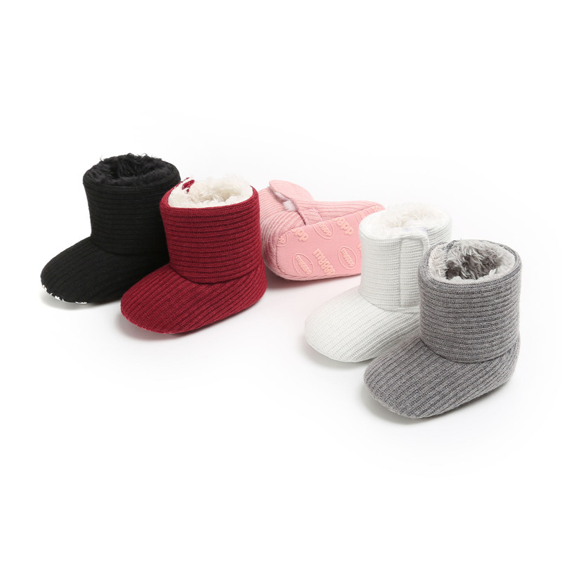 Cute Baby Boy Girl Winter Warm Snow Boots Infant Soft Boots Snow Booties Slippers Shoes Sole Slipper Crib Shoes