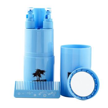 Przenośny kubek na szczoteczki do zębów na zewnątrz podróży wielofunkcyjny uchwyt na szczoteczki do zębów zestaw toaletowy kubek do trzymania szczoteczki do zębów i pasty do zębów tanie i dobre opinie Szczoteczka dezynfekcji