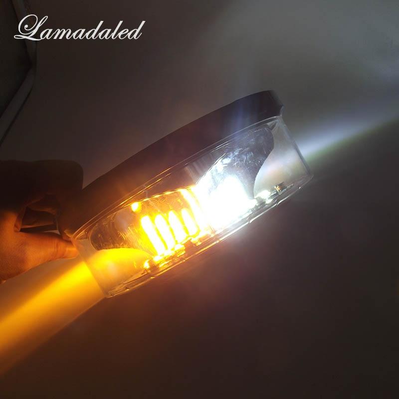 18 cm žuto bijela okrugla LED strobosvjetla svjetiljka krov - Svjetla automobila - Foto 1