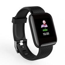 """D13 1.3 """"컬러 스크린 스마트 시계 116 플러스 스마트 팔찌 혈압 산소 모니터 보이는 메시지 쇼 smartwatch 팔찌"""
